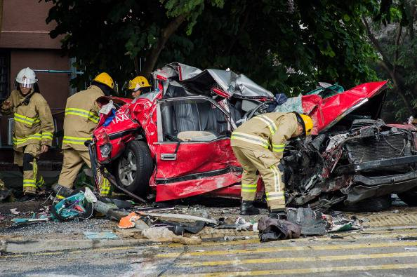Incidente stradale (PHILIPPE LOPEZ/AFP/Getty Images)