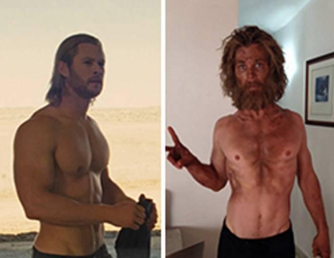 Chris Hemsworth fonte screenshot Thor e Instagram