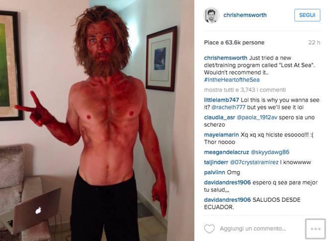 Da Thor a pelle, ossa e barba: la metamorfosi della star hollywoodiana -FOTO