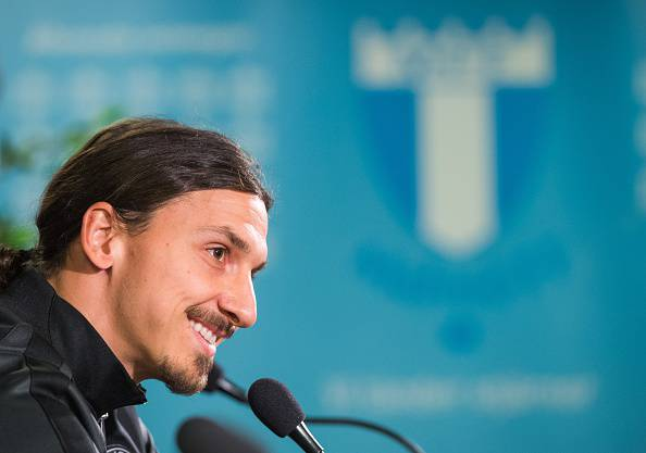 Zlatan Ibrahimovic (Photo credit should read JONATHAN NACKSTRAND/AFP/Getty Images)