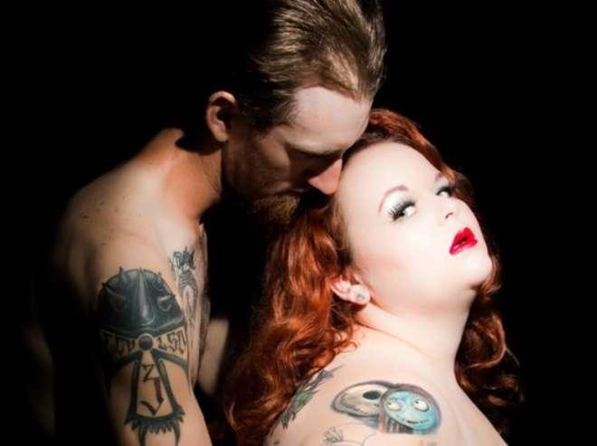 Kat Stroud , donna 'grassa' con un marito sexy fonte House of Winter