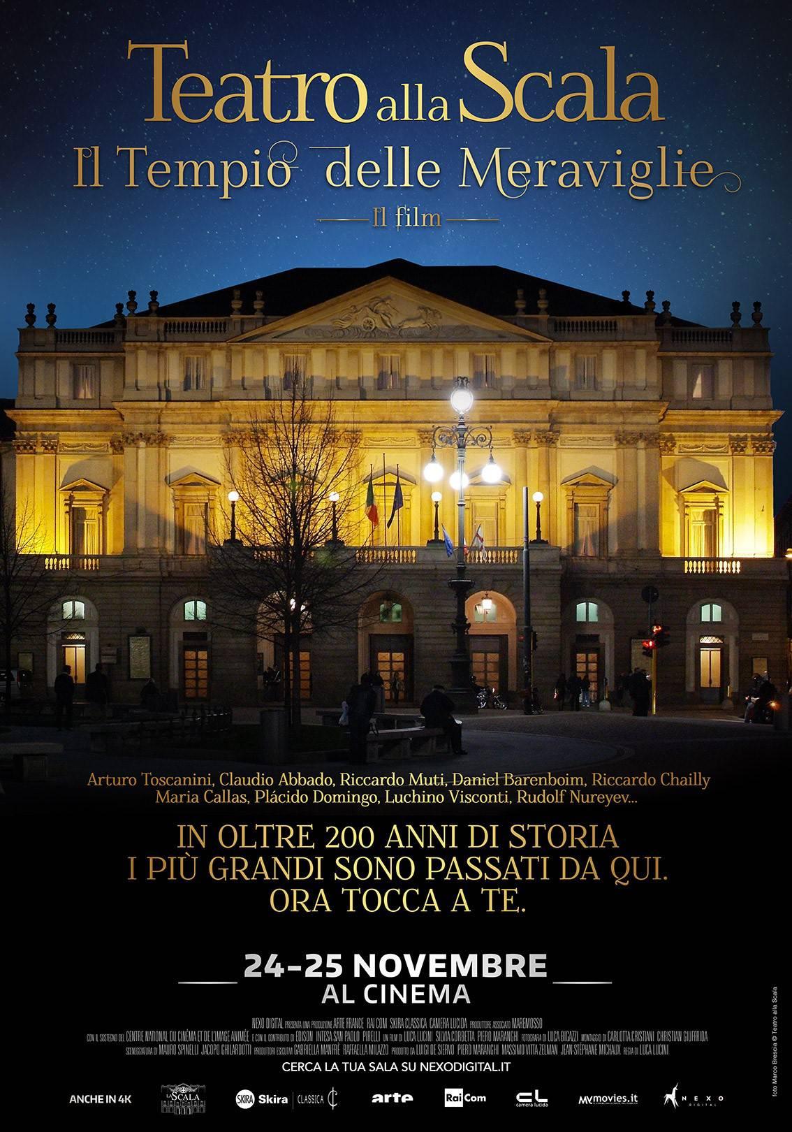 """""""Teatro alla Scala. Il tempio delle meraviglie"""": il film che ne ripercorre la storia"""