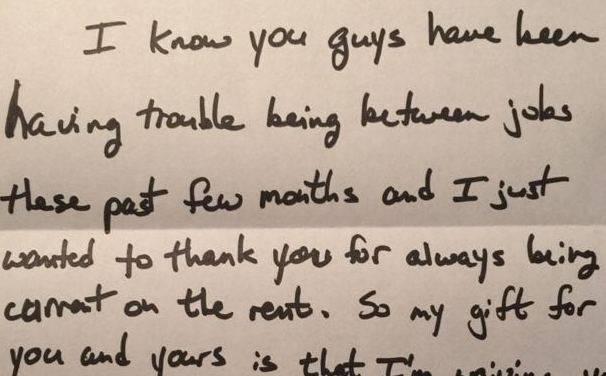 Uno stralcio della lettera (foto dal web)