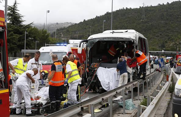 Soccorsi dopo un incidente (VALERY HACHE/AFP/Getty Images)