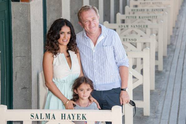 Salma Hayek e famiglia (Photo by Francois Durand/Getty Images)