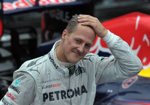 Michael Schumacher (Photo credit should read YASUYOSHI CHIBA/AFP/Getty Images)