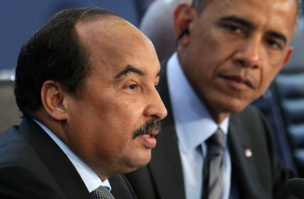 Mohamed Ould Abdel Aziz, qui con Obama (Photo by Alex Wong/Getty Images)