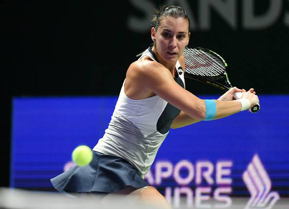 Flavia Pennetta (Photo credit should read ROSLAN RAHMAN/AFP/Getty Images)