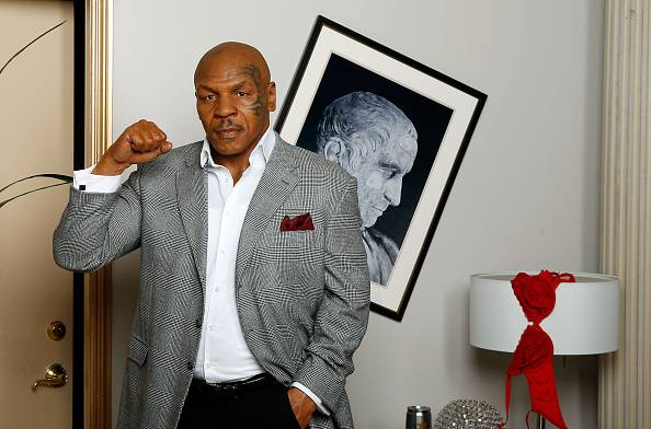 Mike Tyson (Photo by Isaac Brekken/Getty Images for Madame Tussauds Las Vegas)