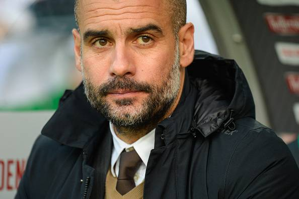 Pep Guardiola (Photo credit should read NIGEL TREBLIN/AFP/Getty Images)