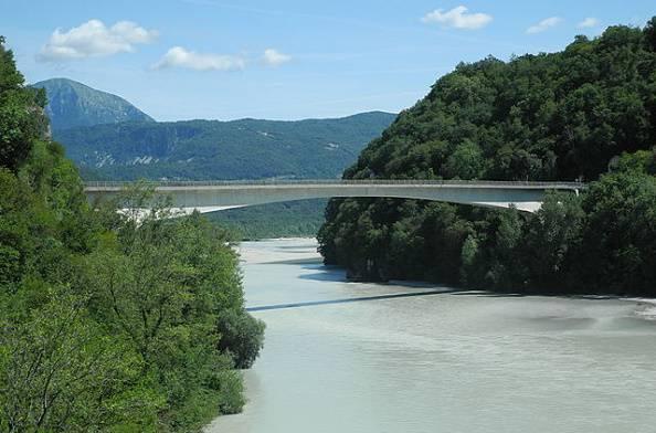 Il ponte di Pinzano (Diego Cruciat, licenza CC-BY-SA-3.0)