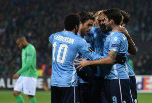 Lazio (Photo credit should read PHILIPPE DESMAZES/AFP/Getty Images)