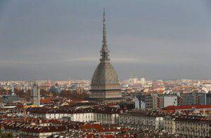 TURIN, ITALY - NOVEMBER 10: A view of the Mole Antonelliana from the Monte dei Cappuccini on day four of the Samsung ISU Short Track World Cup at the Palatazzoli on November 10, 2013 in Turin, Italy. (Photo by Harry Engels/Getty Images)