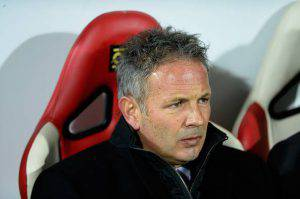 MODENA, ITALY - DECEMBER 06: Head coach of AC Milan Sinisa Mihajlovic looks on during the Serie A match between Carpi FC and AC Milan at Alberto Braglia Stadium on December 6, 2015 in Modena, Italy. (Photo by Dino Panato/Getty Images)