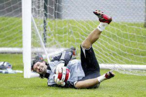 Pavel Srnicek.. (Photo by Ian Horrocks/Newcastle Utd via Getty Images)