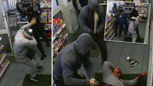 Shocking Moment Gang Attack Man with AXE at Petrol Station
