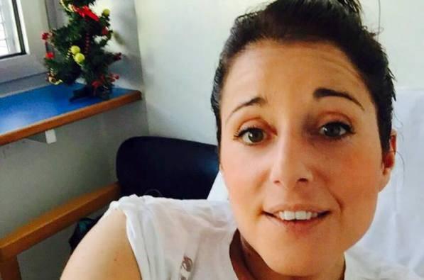 Alessia Tallon in ospedale (foto Facebook)