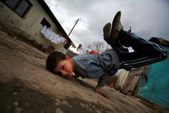 Bambino rom (DIMITAR DILKOFF/AFP/Getty Images)