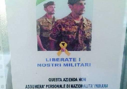 Il cartello apparso a Lecco (websource)