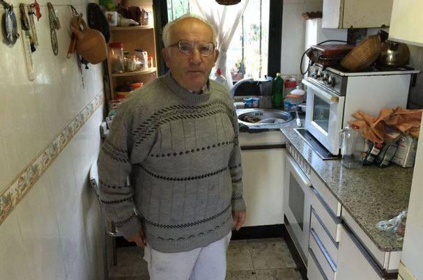 Il pensionato Domingo Alonso (websource)