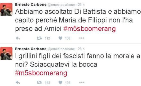 I tweet di Ernesto Carbone