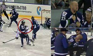 hockey giocatore ferito