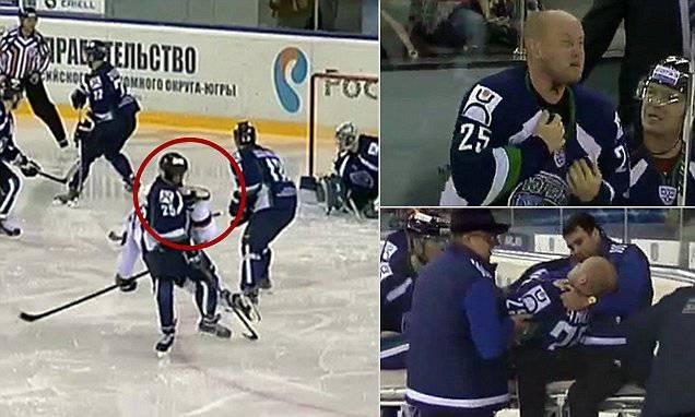 Hockey su ghiaccio: gli tagliano la gola in campo VIDEO