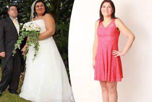 Jen Mellor prima e dopo la dieta (Mirror)
