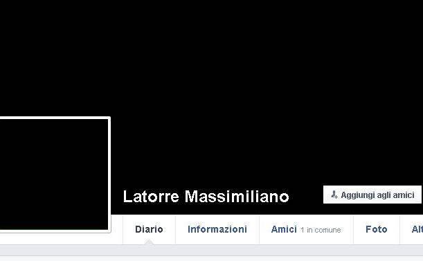 Il profilo Facebook di Latorre