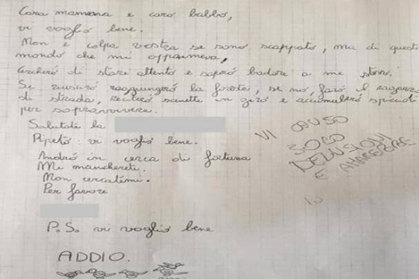 La lettera dell'adolescente (websource)