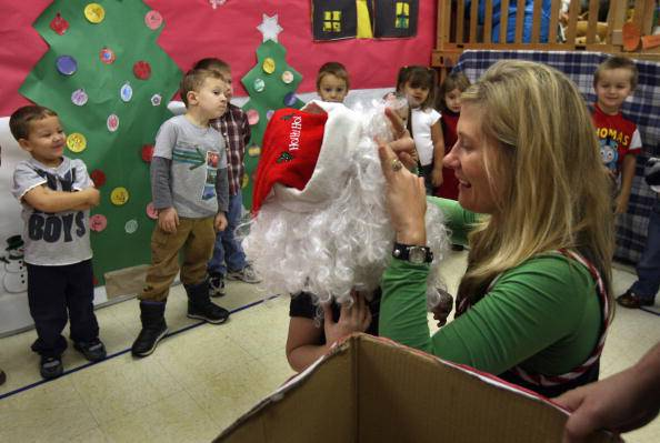 Natale a scuola (John Moore/Getty Images)