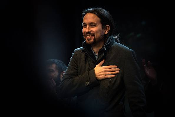 Il leader di Podemos Pablo Iglesias (David Ramos/Getty Images)