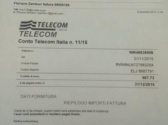 Truffa Telecom fonte Italiaora