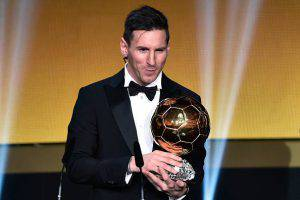 Lionel Messi, Pallone d'Oro 2016 (Photo credit should read FABRICE COFFRINI/AFP/Getty Images)