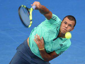 Jo-Wilfried Tsonga (Photo credit should read WILLIAM WEST/AFP/Getty Images)