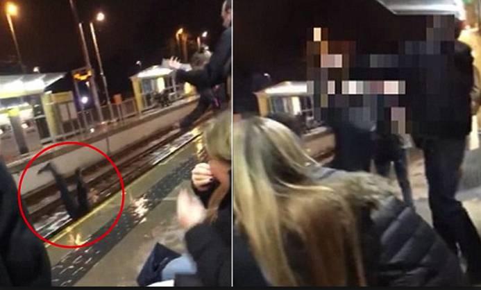 Donna spinta sui binari dopo un litigio, attimi di terrore in stazione (Video)