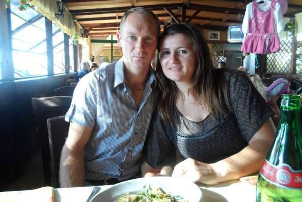Volodymir Havrylyuk e la moglie (foto dal web)