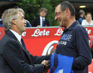Mancini e Sarri (Marco Luzzani/Getty Images)