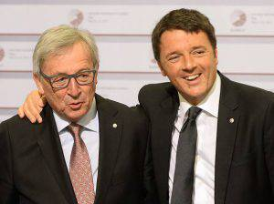 Juncker e Renzi (JANEK SKARZYNSKI/AFP/Getty Images)