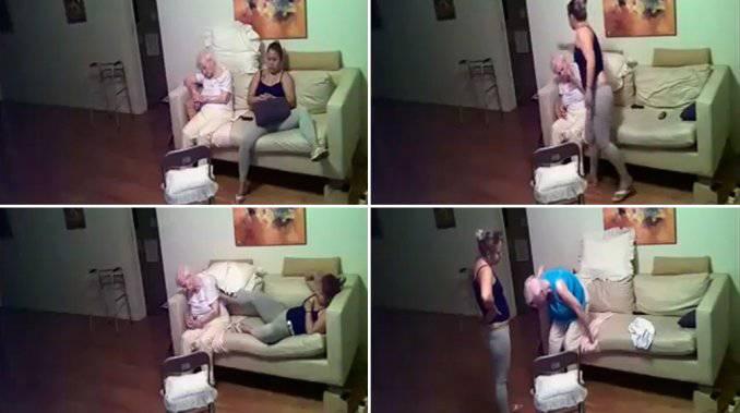 Nonnina picchiata (screen shoot you tube)