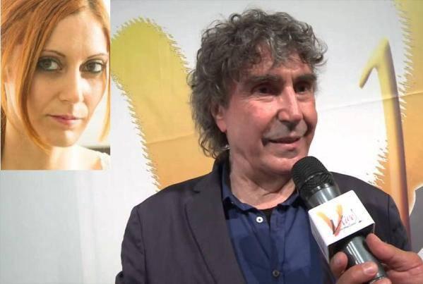 Stefano D'Orazio (ritaglio Youtube) e nel riquadro Francesca Michelon