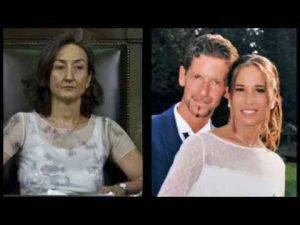 Bosetti , la moglie e il Pm Ruggeri (screen shooto you tube)