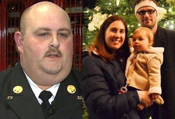 Il pompiere salva una bimba, ma viene sospeso