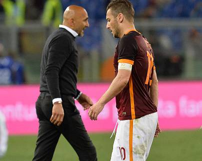 Francesco Totti e Luciano Spalletti (Photo by Silvia Lore/NurPhoto)