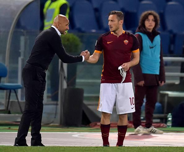 Luciano Spalletti e Francesco Totti  (Photo by Luciano Rossi/AS Roma via Getty Images)