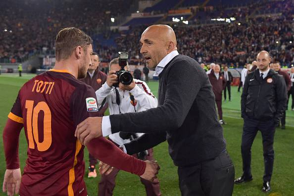 Francesco Totti e Luciano Spalletti (Photo by Luciano Rossi/AS Roma via Getty Images)