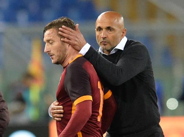 Francesco Totti e Luciano Spalletti (Photo by Silvia Lore/NurPhoto via Getty Images)