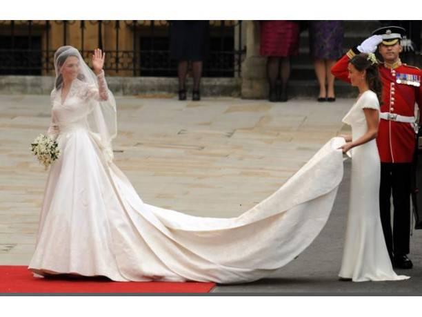l'abito da sposa di Kate Middleton fonte websource