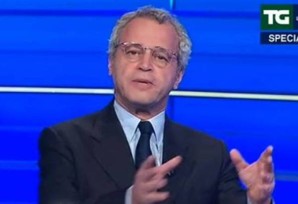 Enrico Mentana (ritaglio video)