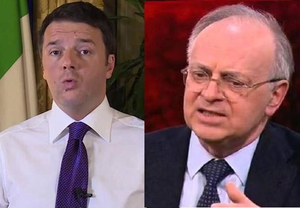 Renzi e Davigo (ritaglio video)